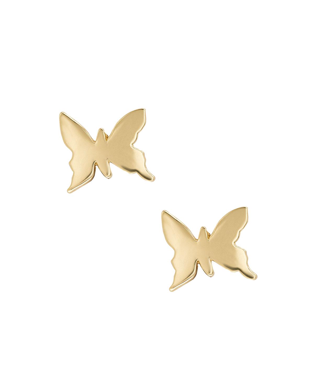 652feac28 LANA GIRL BY LANA JEWELRY Girls' 14K Gold Butterfly Stud Earrings ...