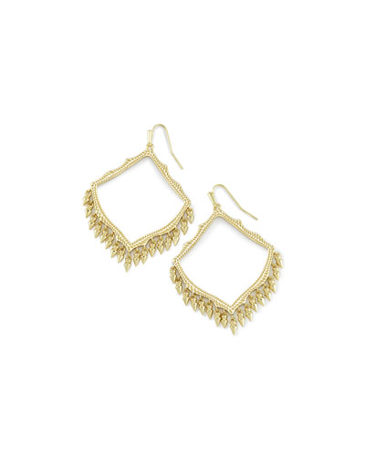 Lacy Earring in Yellow Gold Plate