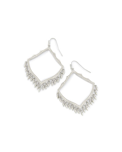 Lacy Earrings in Silvertone Plate