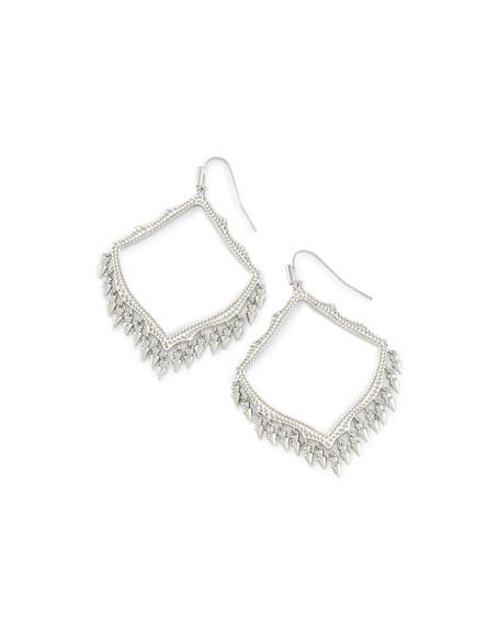 Kendra Scott Lacy Earrings in Silvertone Plate