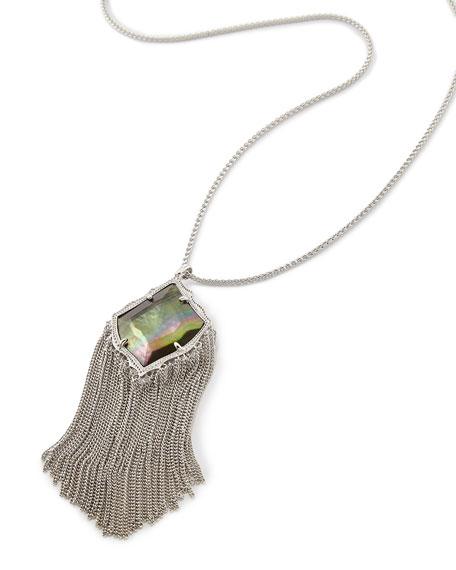Kingston Necklace in Silvertone Plate