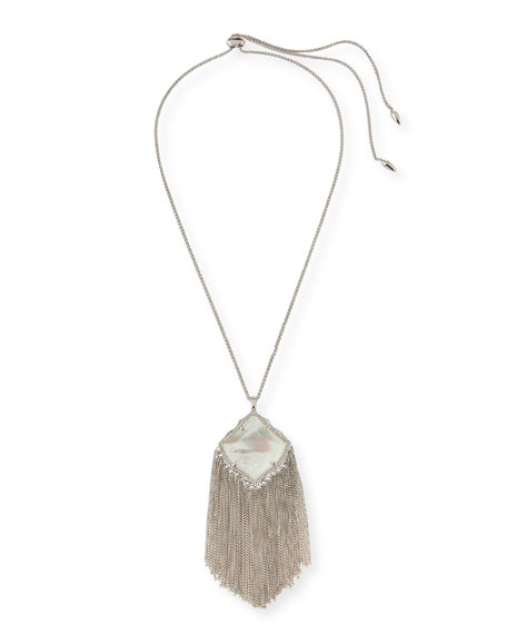 Kendra Scott Kingston Necklace in Silvertone Plate