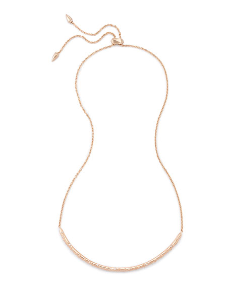 Kendra Scott Amber Necklace in Rose Gold Plate