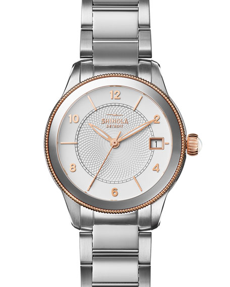 Shinola Gail 36mm Stainless Steel Bracelet Watch