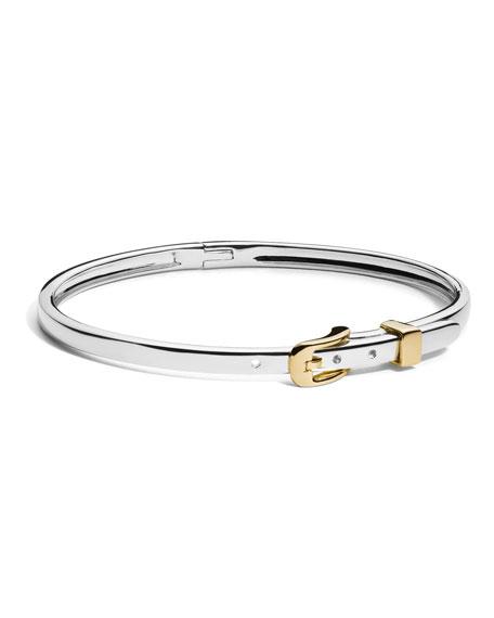 Shinola Jewelry Two-Tone Thin Buckle Bracelet