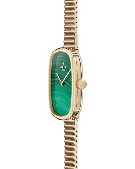 The Eppie Sneed 40mm Malachite Watch