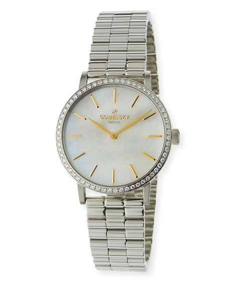 Gomelsky The Agnes Bracelet Watch with Diamonds