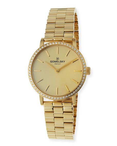 Gomelsky The Agnes Varis PVD Bracelet Watch with
