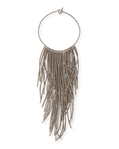Monili Fringe Waterfall Necklace