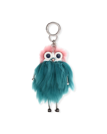 Fendi Teen Witch Mink/Alpaca Fur Charm for Handbag