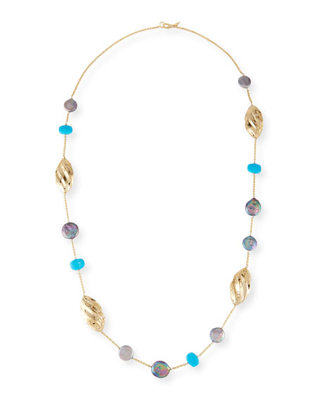 Alexis Bittar Pleated Link Station Necklace