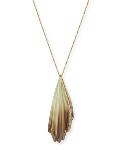 Crystal-Encrusted Sculptural Pendant Necklace, 32