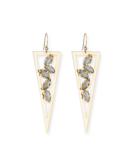 LANA Ultra Spike Drop Earrings with Labradorite