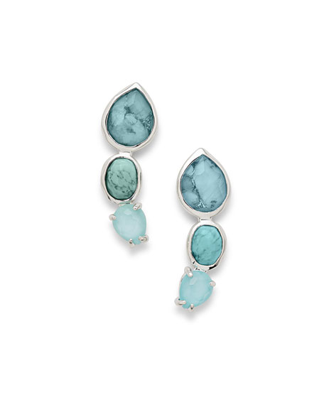 Ippolita 925 Rock Candy 3-Stone Earrings in Turquoise