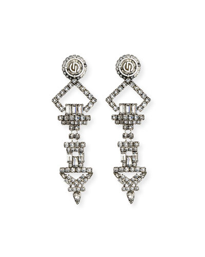 Luca X Crystal Statement Earrings