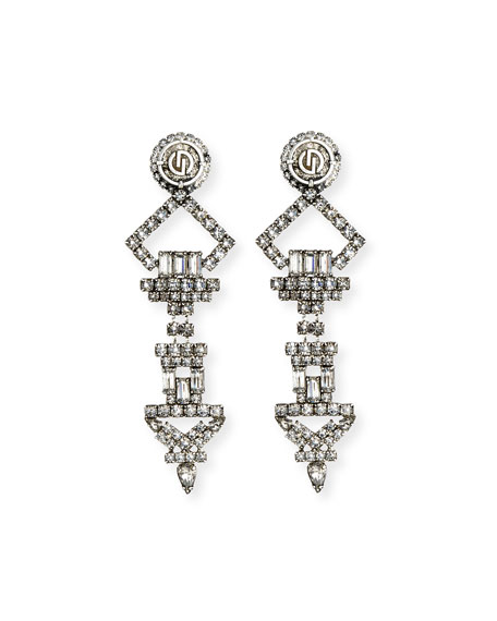 Dylanlex Luca X Crystal Statement Earrings