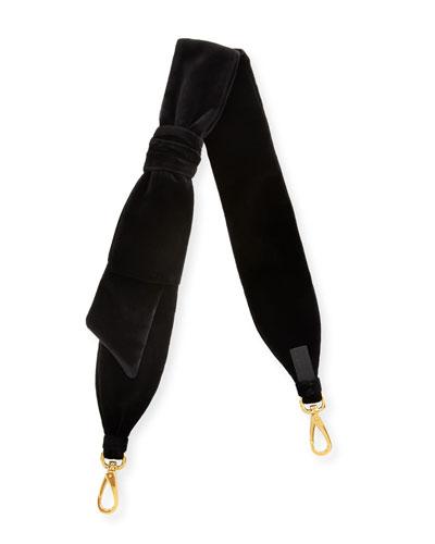 Velvet Knotted Bow Shoulder Strap