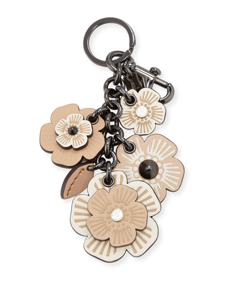 Coach Willow Floral Mix Bag Charm, Chalk