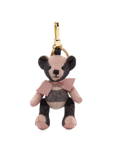 Thomas Bear Check Cashmere Bag Charm