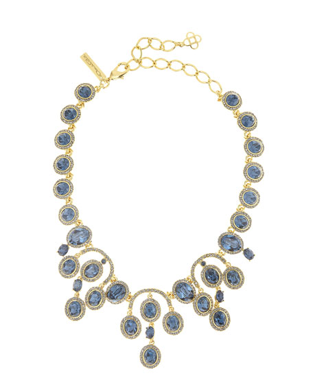 Oscar de la Renta Pavé Oval Crystal Necklace,