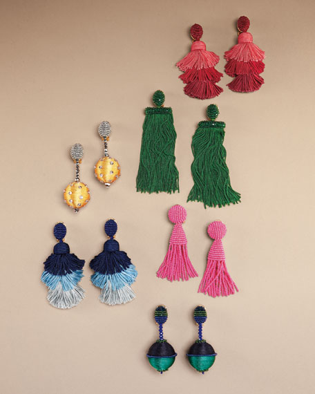 Classic Short Tassel Clip-On Earrings