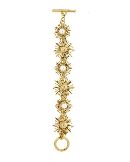 Oscar de la Renta Pearl Sun Star Bracelet