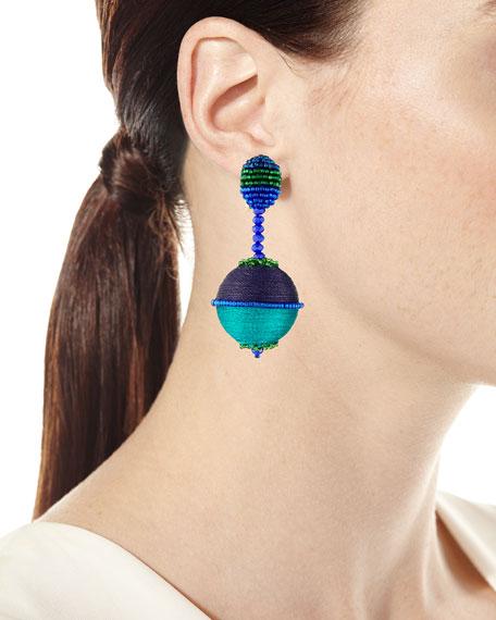 Beaded Drop Clip-On Earrings
