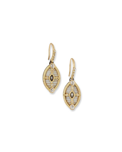 Old World 18k Mosaic Drop Earrings