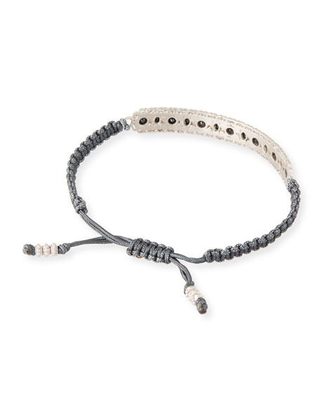 New World Pull Cord Bracelet with Black Sapphires