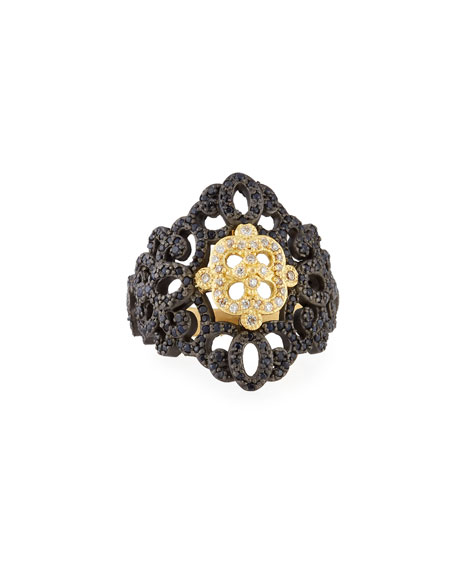 Armenta Old World Filigree Ring with White Diamonds
