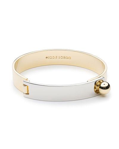 Layered Plate Cuff Bracelet