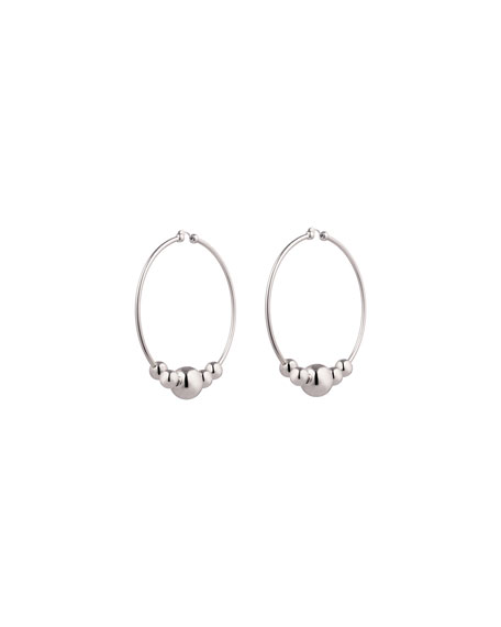 Eddie Borgo Large Sphere Hoop Drop Earrings