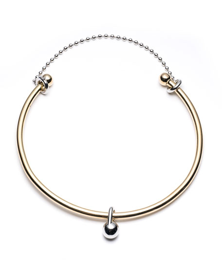 Eddie Borgo Barbell Chain Choker Necklace