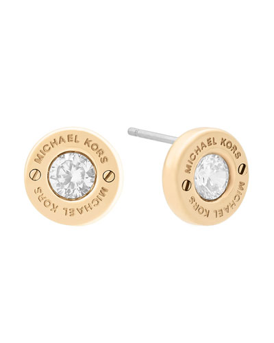 michael kors jewelry outlet online 8g2w  Haute Hardware Crystal Stud Earrings, Yellow