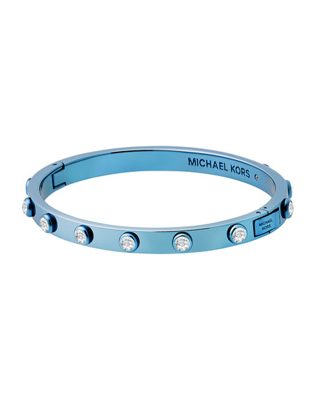 Polished Platings Crystal Bracelet, Blue