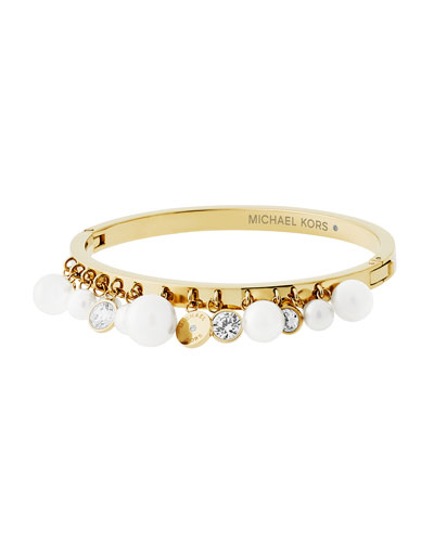 Modern Classic Charm Cuff Bracelet, Yellow Golden