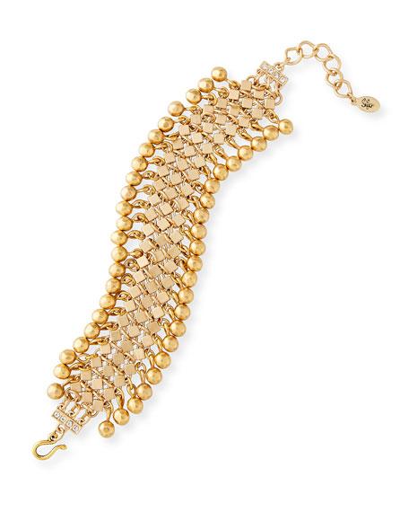 Golden Ball Fringe Choker Necklace