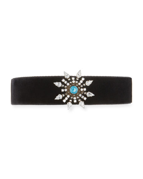 Dannijo Del Crystal Choker Necklace