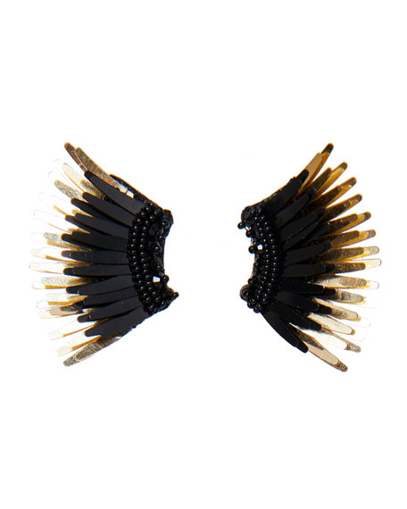 Mignonne Gavigan Mini Madeline Statement Earrings, Black/Golden