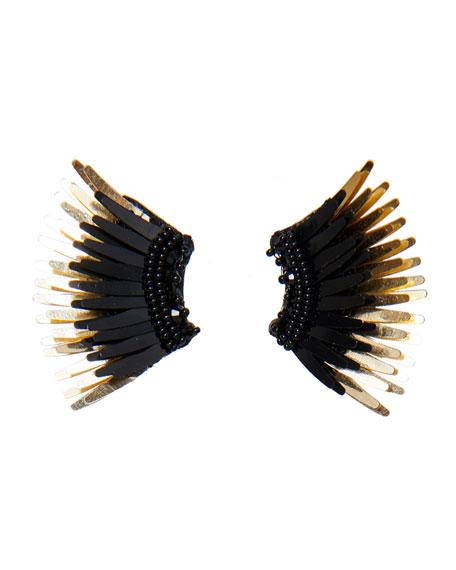 Mignonne Gavigan Madeline Beaded Statement Earrings, Black/Golden