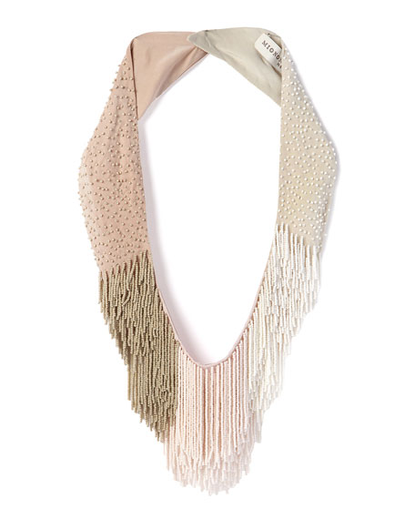 Mignonne Gavigan Petite Le Marcel Beaded Fringe Necklace,