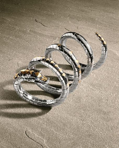 Legends Naga 18K Gold & Silver Multi Coil Bracelet with Blue Sapphire
