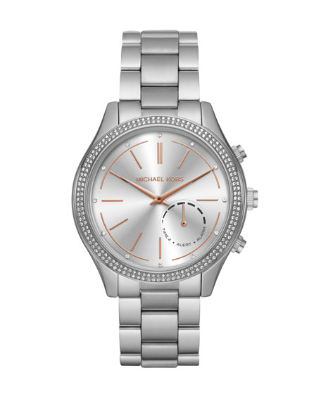 Michael Kors 42mm Slim Runway Stainless Steel Hybrid