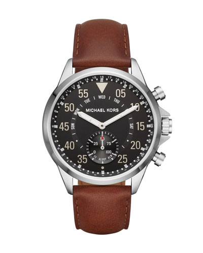 Men's Gage Hybrid Smartwatch with Brown Leather Strap