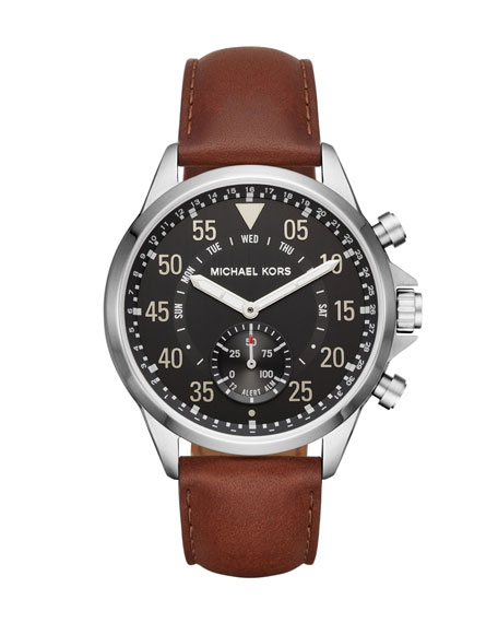 Michael Kors Men's Gage Hybrid Smartwatch with Brown