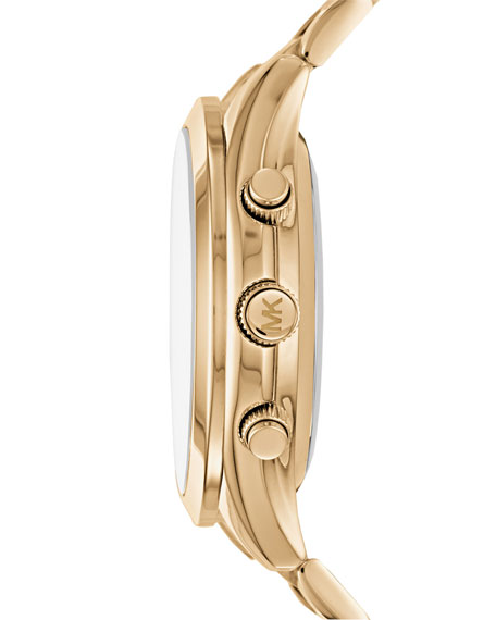 42mm Slim Runway Golden Hybrid Smartwatch