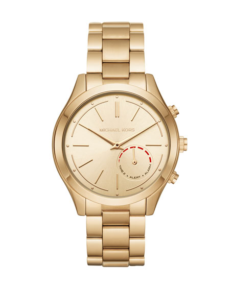 Michael Kors 42mm Slim Runway Golden Hybrid Smartwatch