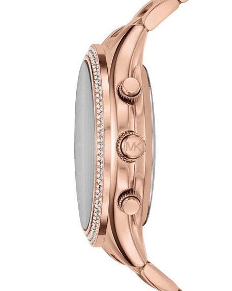 42mm Slim Runway Rose-Golden Hybrid Smartwatch