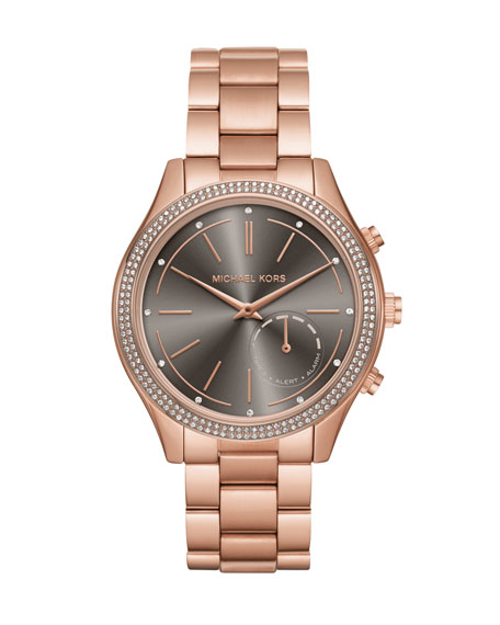 Michael Kors 42mm Slim Runway Rose-Golden Hybrid Smartwatch