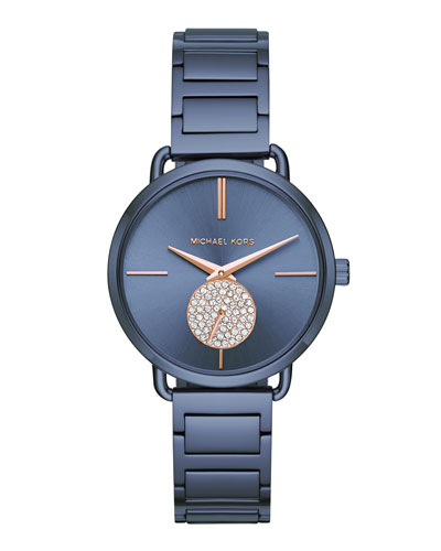 36.5mm Portia Navy IP Bracelet Watch